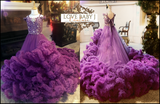 """Ruffled Hearts""...... A Haute Couture Ruffle Gown With Train"