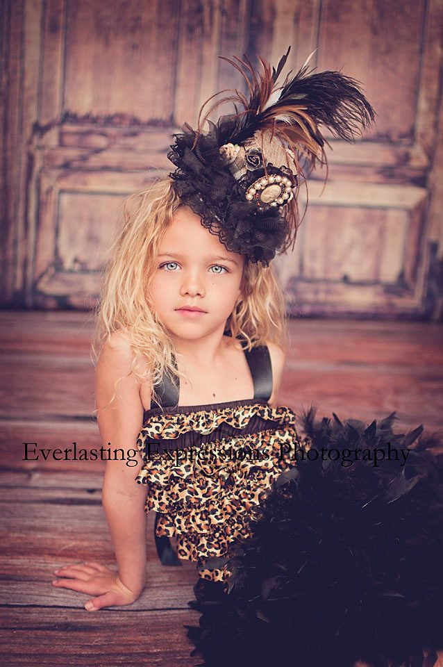 Angelic Feathertale...A Mini Top Hat/Fascinator For Little Ladies!
