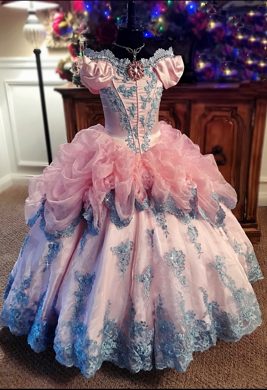 Purple and Pink Princess Ball Gown Dresses