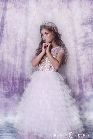 """Moonlit Glow""... A Luxurious Flower Girl/Special Occasion Gown"