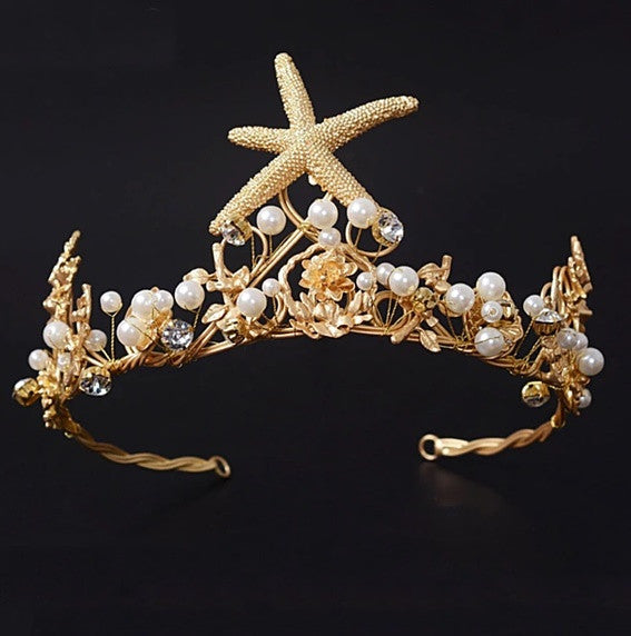 """The Ariel""... A Beautiful Vintage Crown/Tiara. The Perfect Accessory For Beach Weddings!"