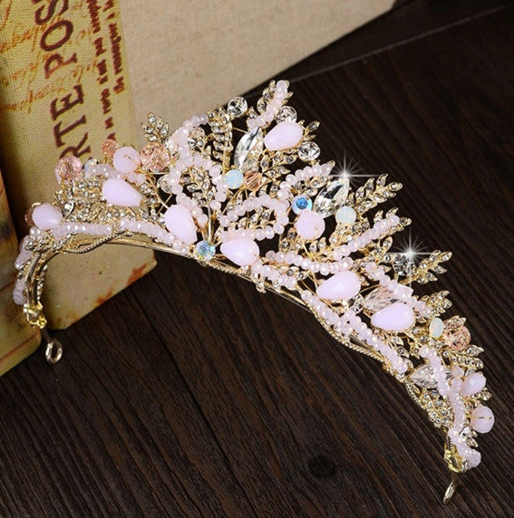 """Fleur""... A Beautiful Gold Encrusted Princess Crown/Tiara"