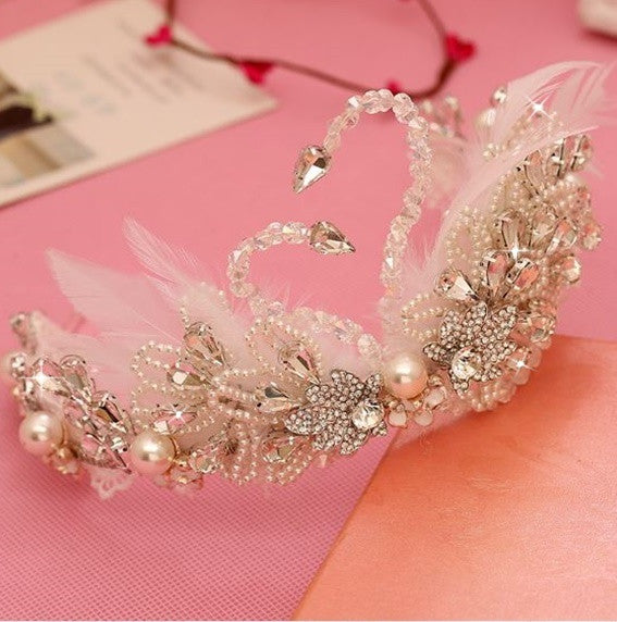 """The Chloe""... A Beautiful Swan Princess Crown/Tiara"