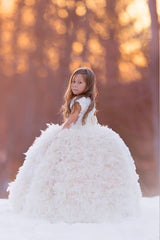 """Angels and Snowflakes""... A Couture Formal Feather Gown"