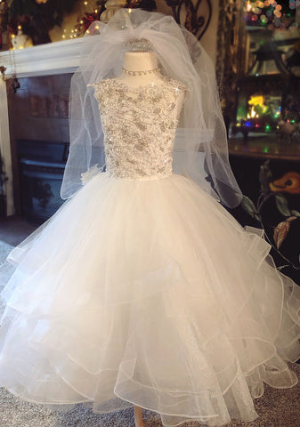 """Undeniably Ethereal""... A Custom Made Mini Bride/Communion Gown"