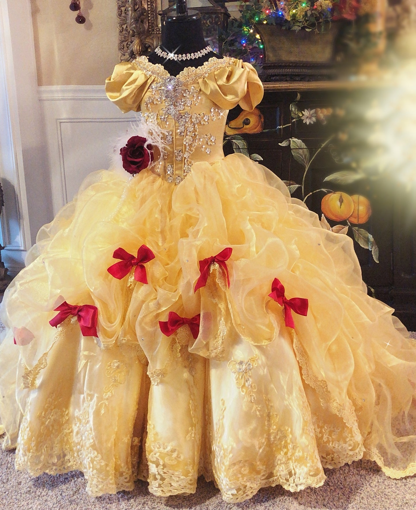 """Beautiful Belle... A Gorgeous Disney Princess Inspired Gown"
