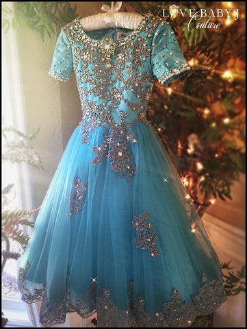 """Sway Beyond Sunset""...One of our Romantic Pageant Dresses"