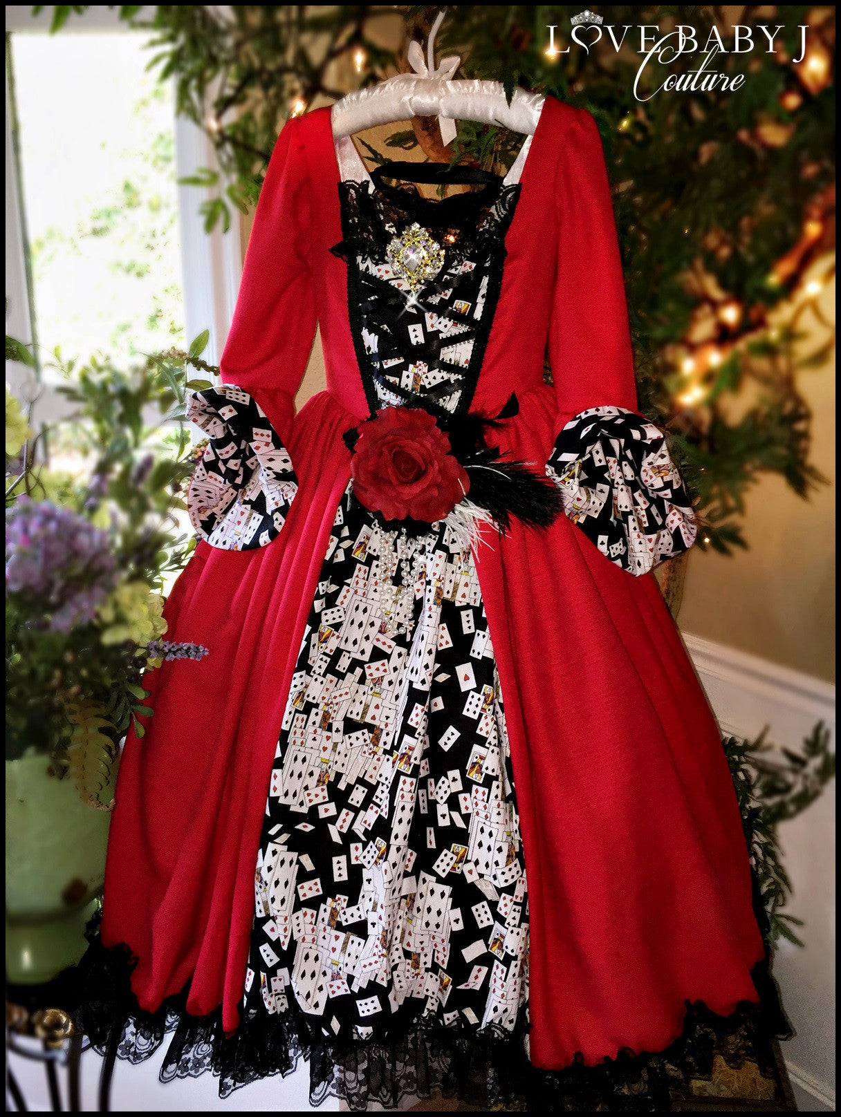 """The Queen Of Hearts""... An Alice In Wonderland Inspired Girls Ball Gown"