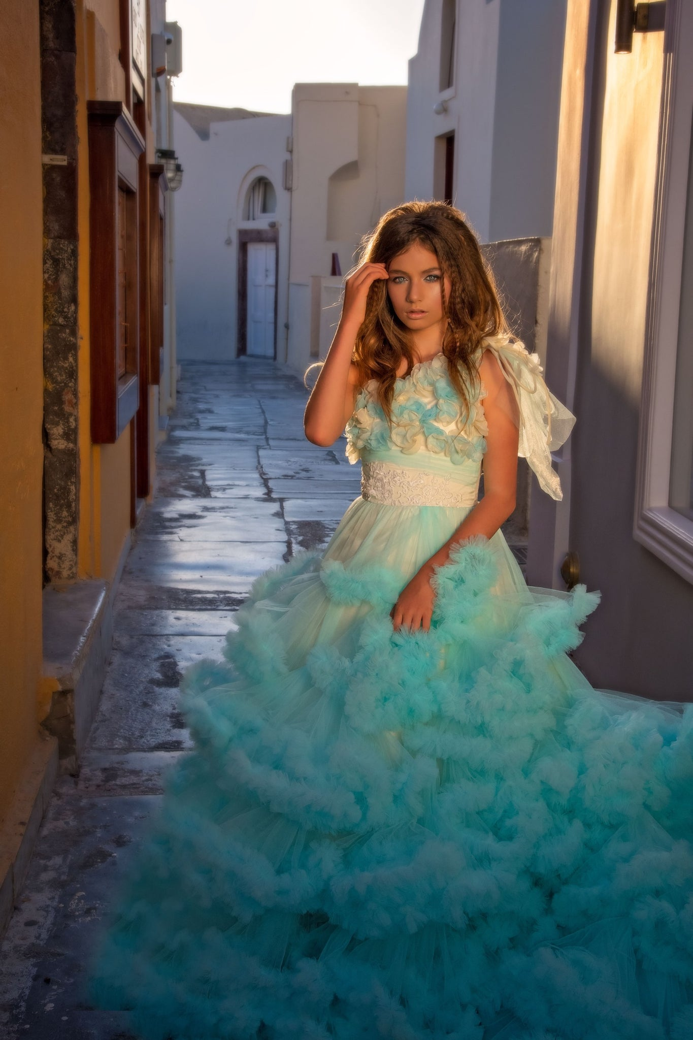 """Springtime Serenade""... A Beautiful Ruffled Tulle Ballgown"