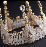 "The Victoria""...  An Exquisite Hand Beaded Tiara/Crown"