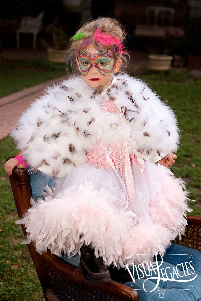 Guinea Feather Capelet - Couture Children's Clothing