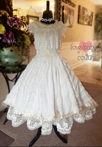 """Hearts Aglow""... A Beautiful Flower Girl And Special Occasion Dress"