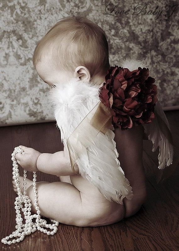 Vintage Feather Angel Wings For Baby