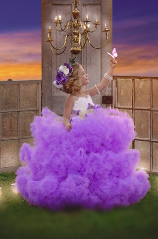 """Girl Meets Twirl In Lilac""... A Stunning Couture Ball Gown"