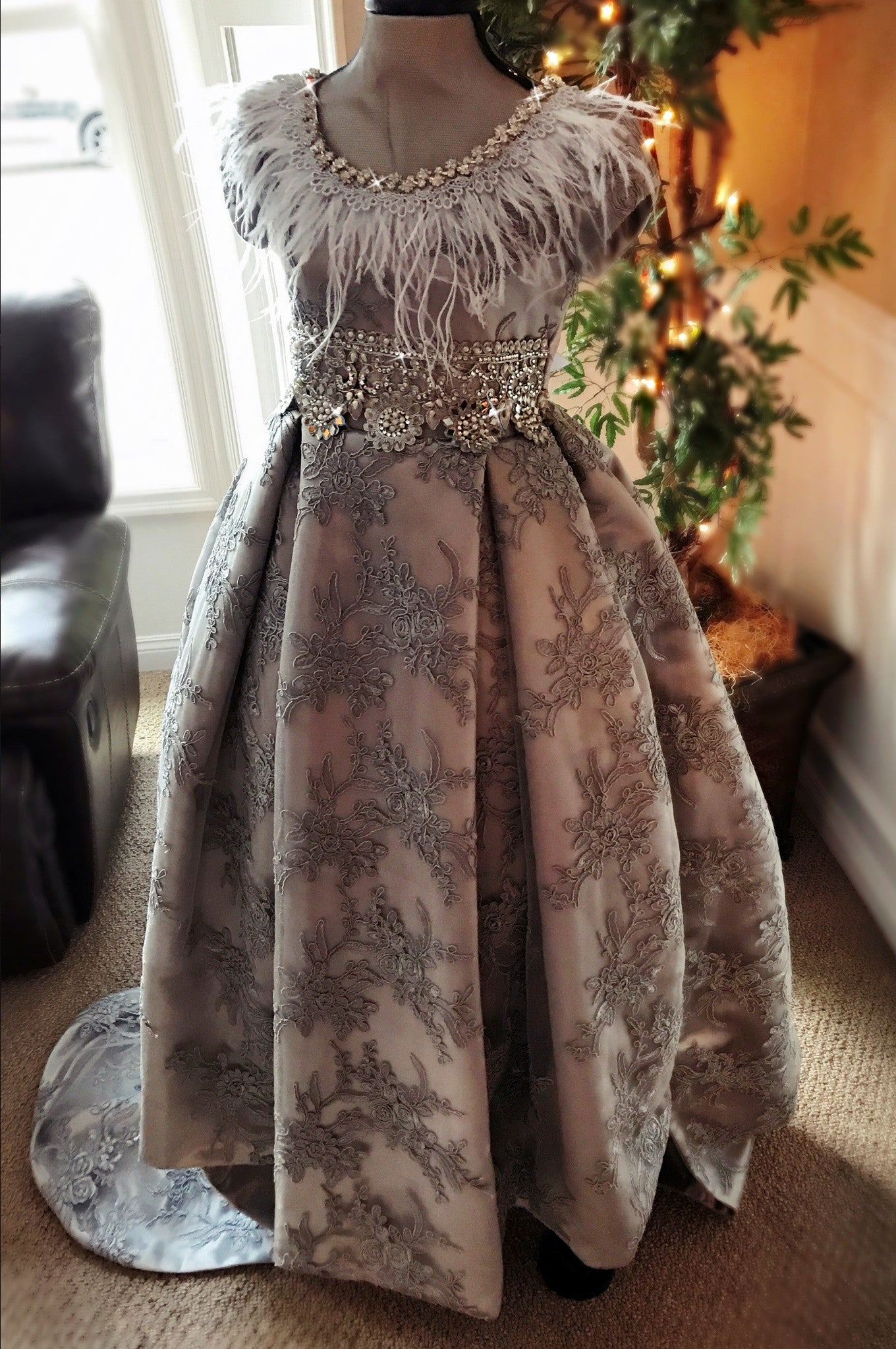 """Silver Soiree""... A Stunning Special Occasion Gown"