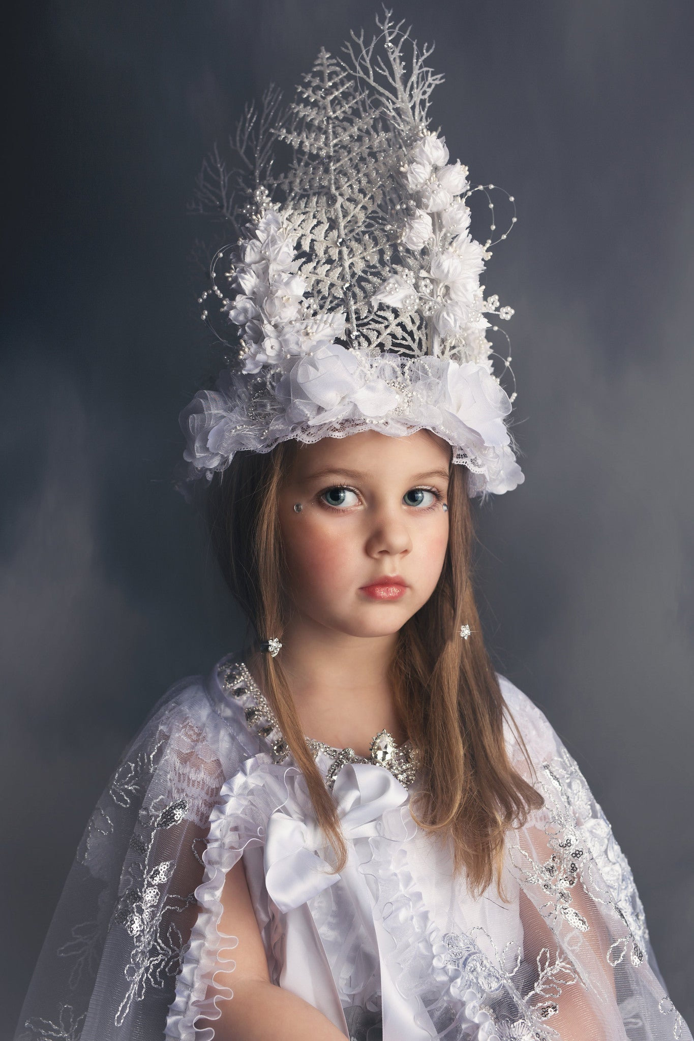 """Snowflake Queen""... An Extravagant Couture Crown"