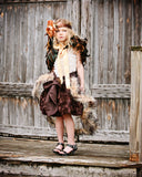 Rooster Feather Capelet - Children's Couture Clothing