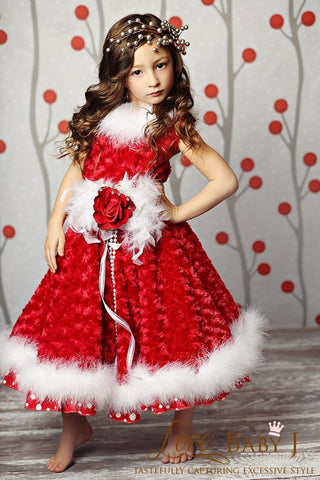 """Holiday Romance""... One of our girls couture holiday dresses"