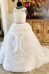 """Moonstruck Snowflake""... A Luxury Communion and Special Occasion Gown"