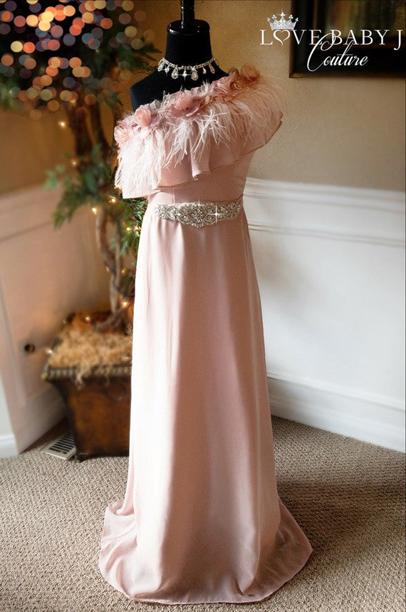 """Pink Sorbet""... A Beautiful Chiffon Special Occasion Dress"
