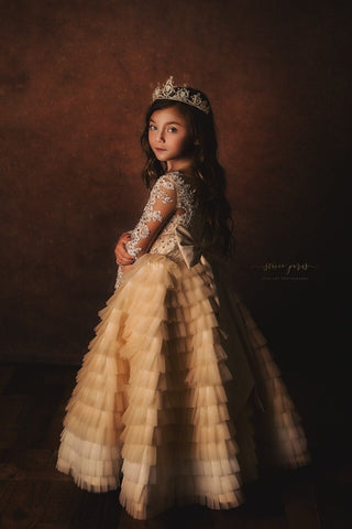 """Ombre Whisper""... A Couture Flower Girl Dress/Special Occasion Gown"
