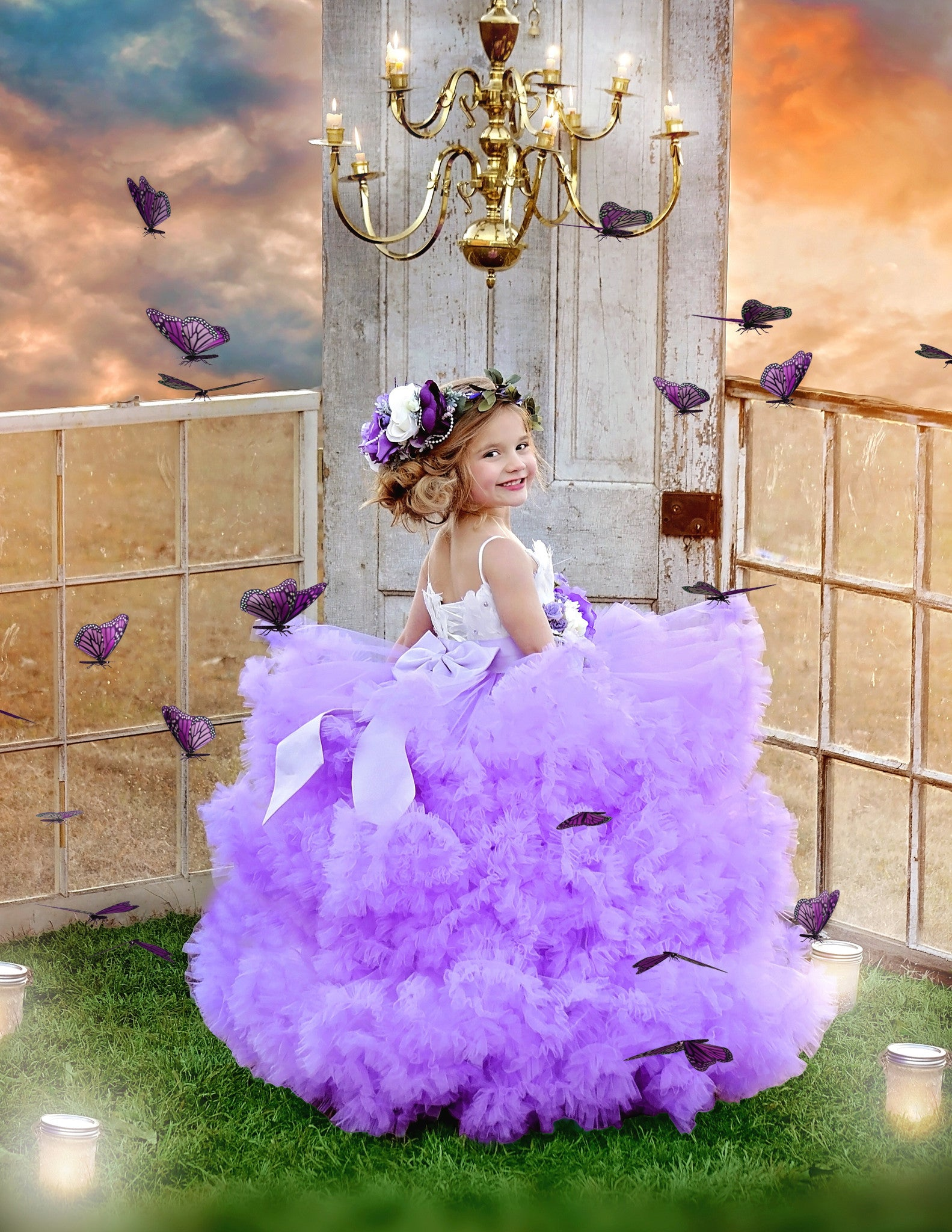 Girl Meets Twirl In Lilac\