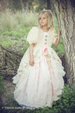 """Romantic Rhapsody""... An Elegant Fur Flower Girl Gown"