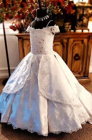 """Ritzy Wishes""... A Gorgeous Mini Bridal Gown/Communion Dress"