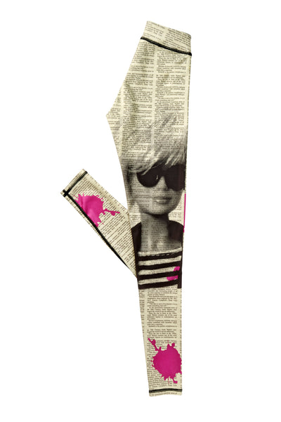 Printed Yoga Leggings - Andy Warhol Barbie Print