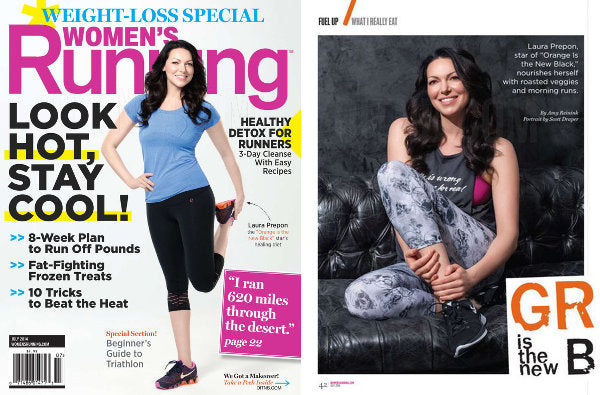 Laura Prepon chooses Electric & Rose for Women's Running article shots