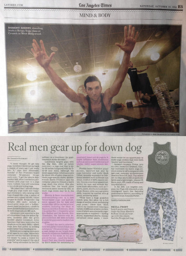 Los Angeles Times Real Men Do Yoga