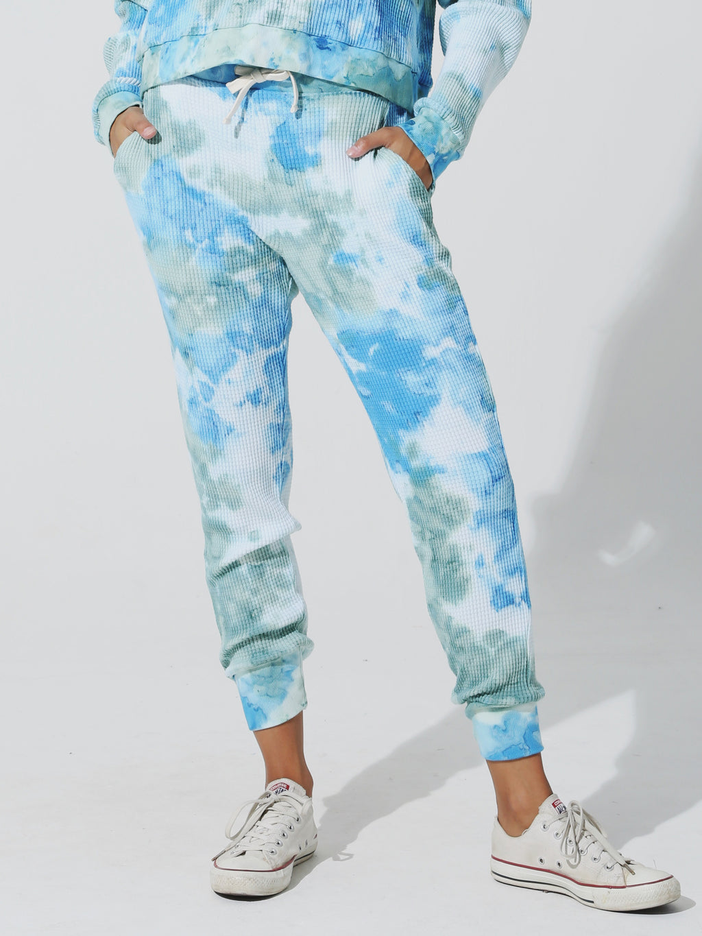 Wesley Thermal Sweatpant - Sage / Marina