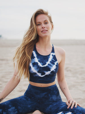 Grayson Crop - Indigo / Cloud