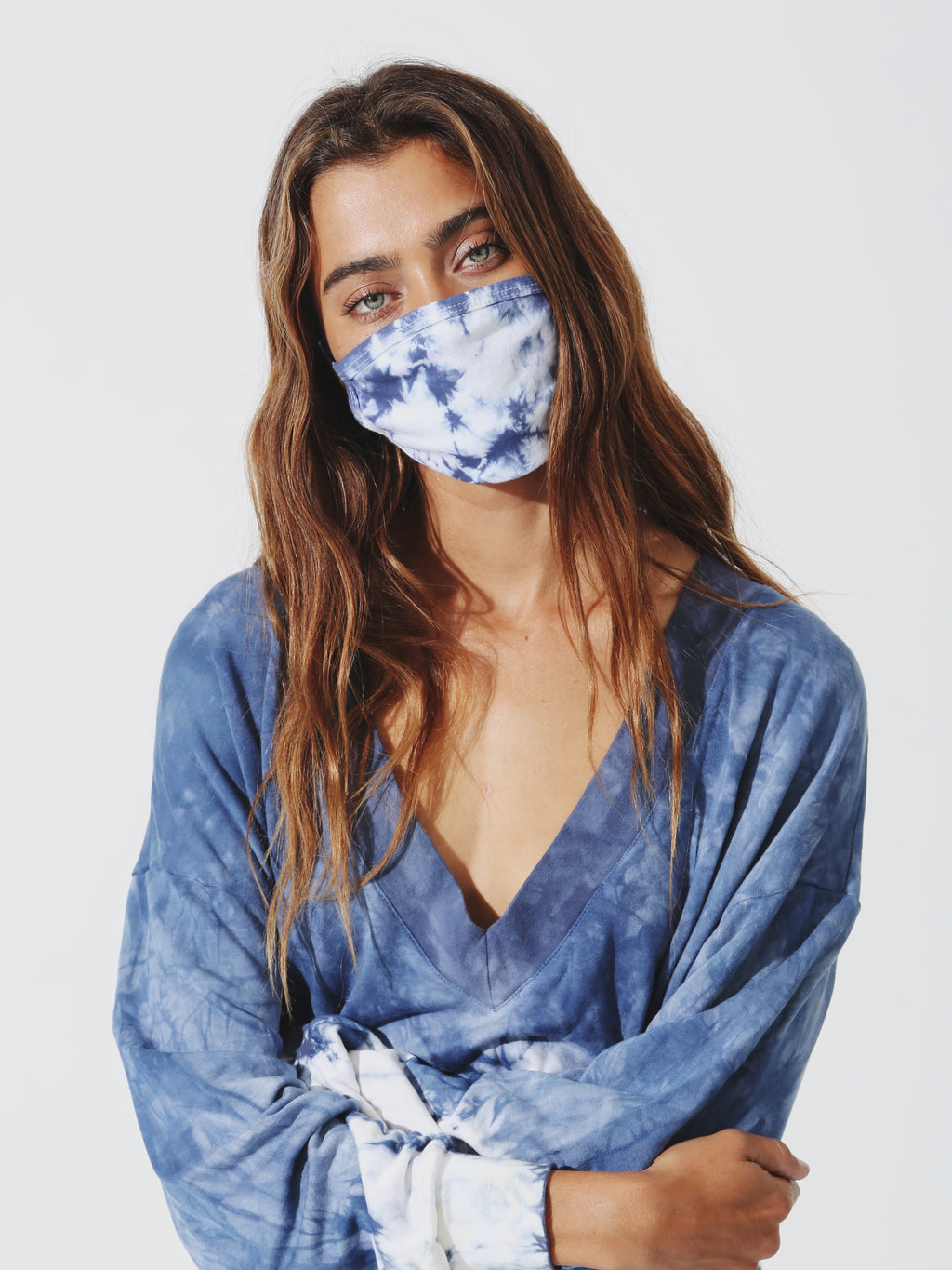 Face Mask - Denim / Cloud