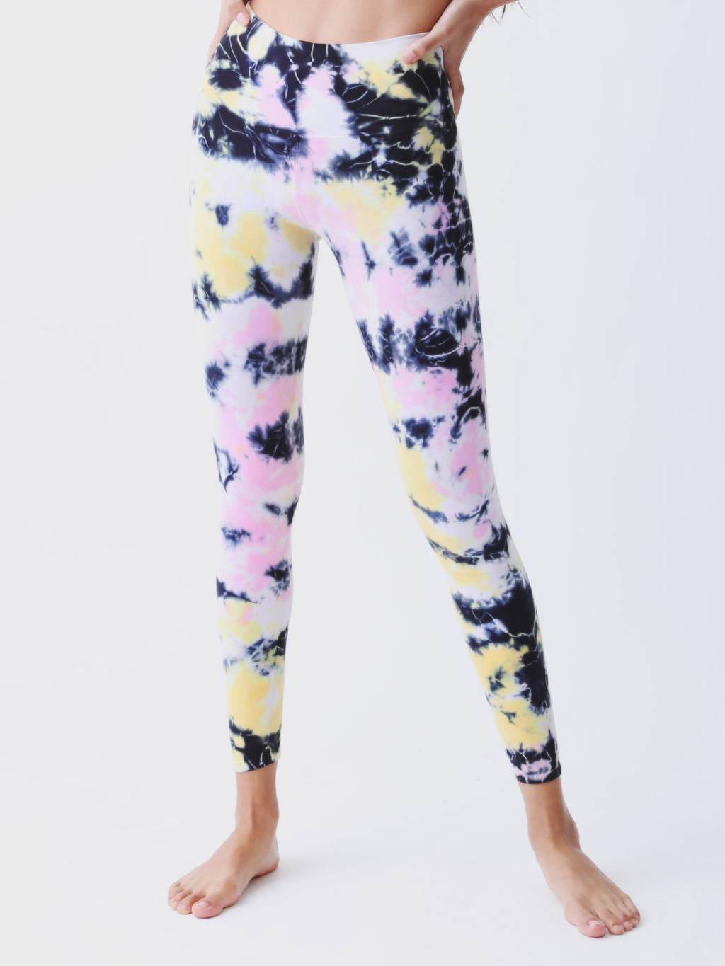 Sunset Legging - Poppy Pink / Marigold / Onyx