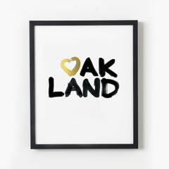Heart Oakland—Black & Gold Foil