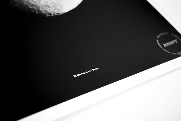 Moon and Back—Black & White