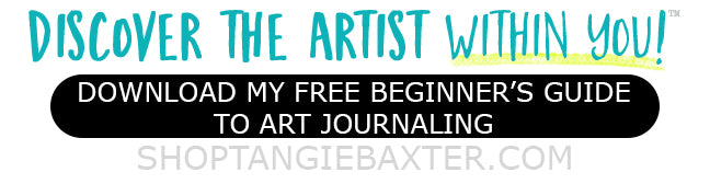 "Download Tangie's FREE ""A Beginner's Guide to Art  Journaling"" and see how to get started!"