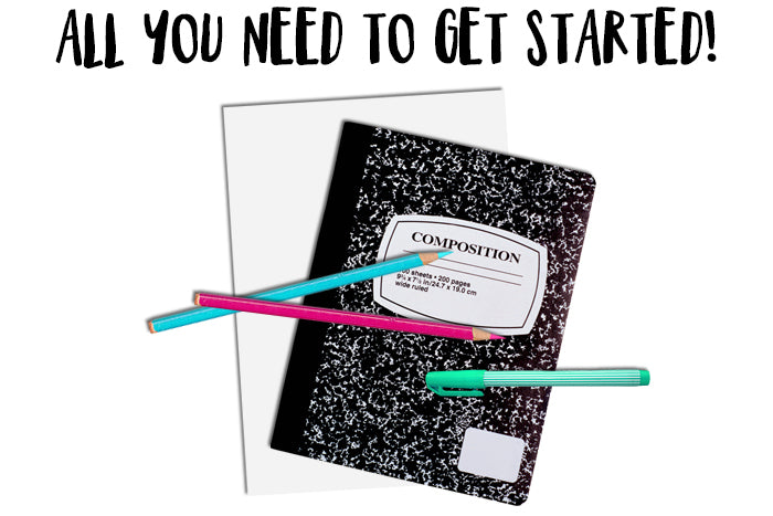 All you need to get started art journaling at TB&CO