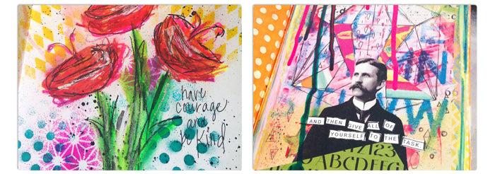 What is Art Journaling? Art Journal Samples by Tangie Baxter at TB&CO