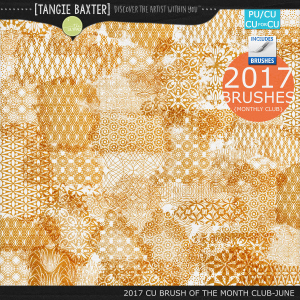 2017 Brush of the Month Club - No. 06 June Brushes