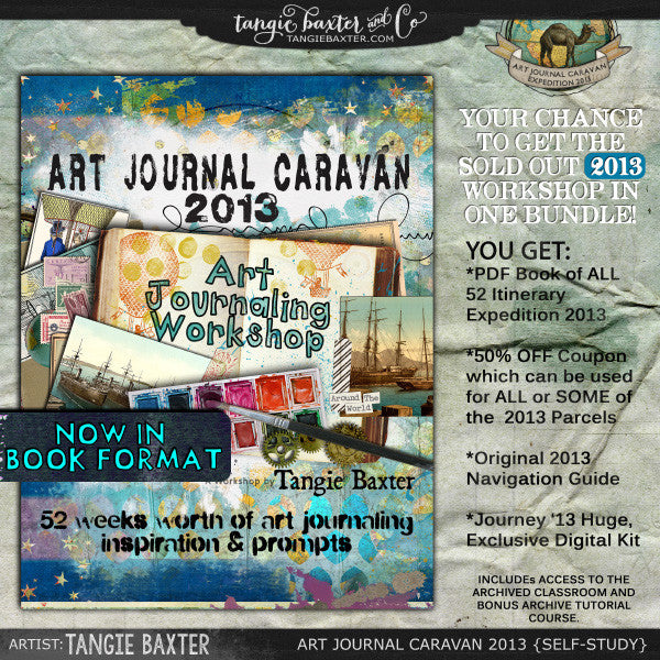 Art Journal Caravan™ Workshop Expedition 2013 {Self-Study}