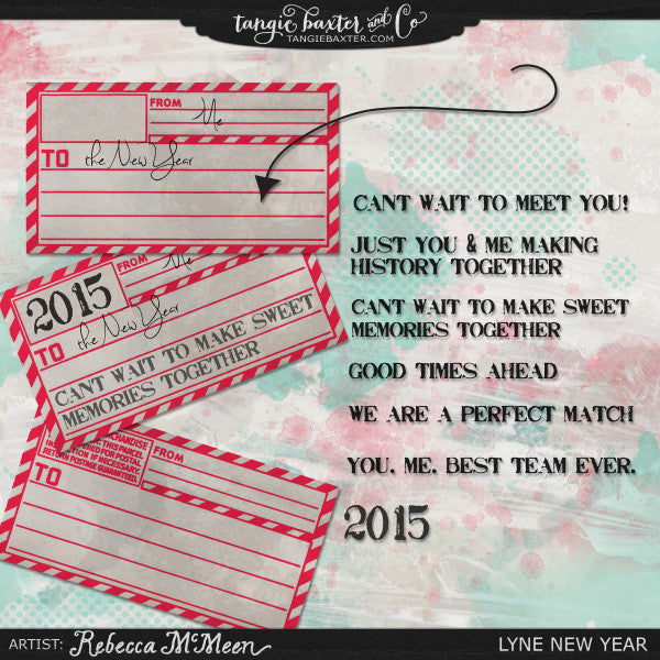 Lyne New Year {Word Art}