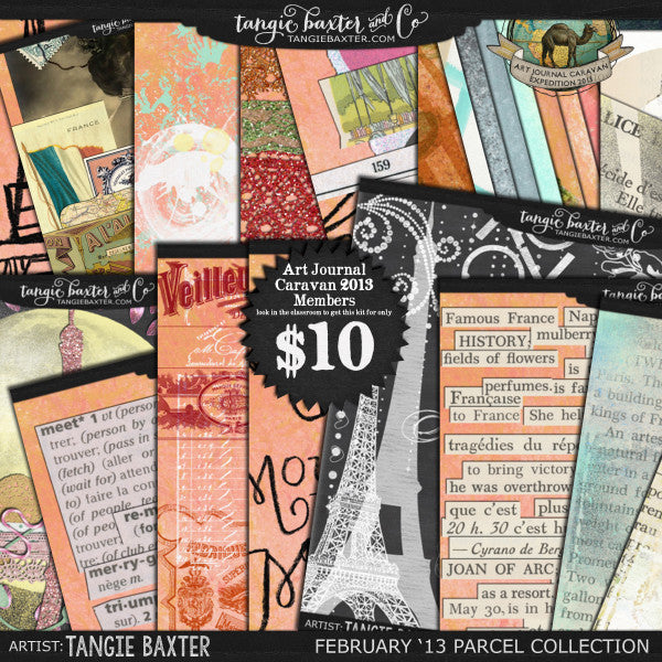 Art Journal Caravan™ 2013 {February Collection}