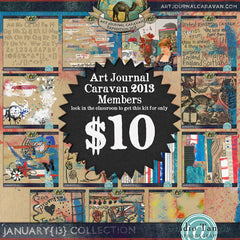 Art Journal Caravan™ 2013 {January Collection}