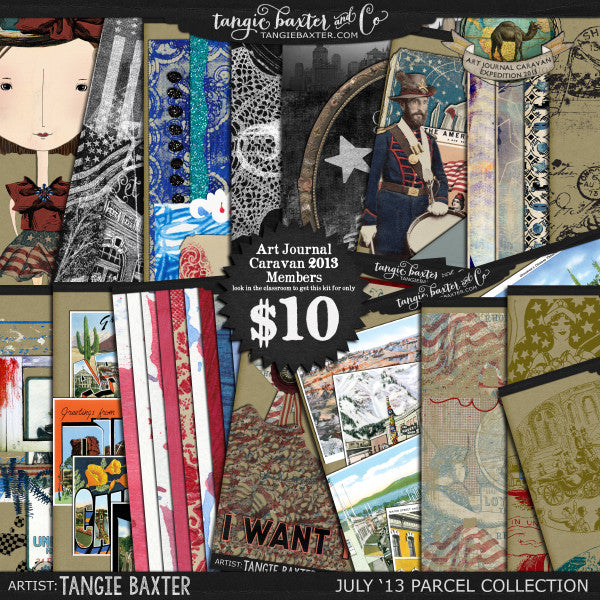 Art Journal Caravan™ 2013 {July Collection}