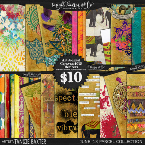 Art Journal Caravan™ 2013 {June Collection}