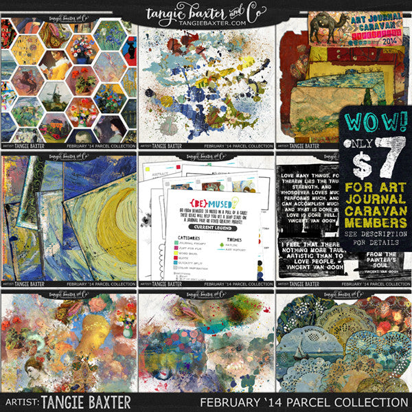 Art Journal Caravan 2014 {February Collection}