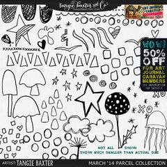 Art Journal Caravan 2014 {March Collection} Lotsa Doodles