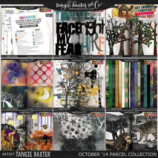 Art Journal Caravan 2014 {October Collection}